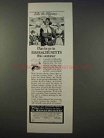 1941 Massachusetts Tourism Ad - Like the Pilgrims