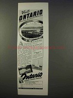 1941 Ontario Canada Ad - Visit Loveliest Province
