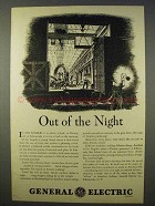 1941 General Electric Ad - Out of the Night