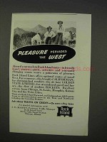 1941 Rock Island Railroad Ad - Pleasure Pervades West