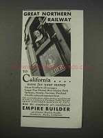 1935 Great Northern Railway Ad - Empire Builder