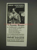 1935 Great Northern Railway Ad - The Scenic Route