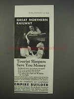 1935 Great Northern Railway Ad - Tourist Sleepers