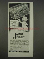 1935 Jones Dairy Farm Sausage Ad - Here Again