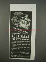 1935 Williams Aqua Velva After Shave Ad - All American