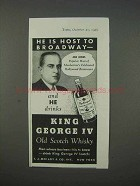 1935 King George IV Scotch Ad - Joe Moss