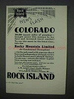 1935 Rock Island Railroad Ad - News Flash Colorado