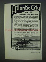 1935 Atlantic City New Jersey Tourism Ad - Fall Season