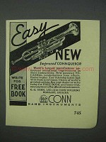 1935 Conn Connqueror Trumpet Ad - Easy