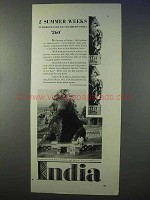 1934 India Tourism Ad - 2 Summer Weeks