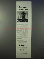 1934 LMS, GSR Railways Ad - Once Upon a Time Land