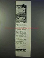 1934 Milwaukee Road Railroad Ad - Pacific Northwest