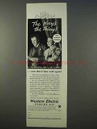 1934 Western Electric Audiphone Hearing Aid Ad