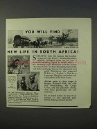 1934 South Africa Tourism Ad - You Will Find New Life