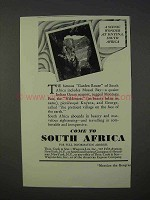 1934 South Africa Tourism Ad - Scenic Wonder at Knysna