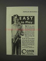 1934 Conn Saxophone Ad - Easy To Play