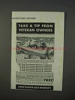 1934 Johnson Sea Horse Outboard Motor Ad - Take a Tip