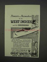 1934 Great White Fleet Cruise Ad - Pioneers Pacemakers