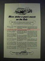 1942 WWII Buick Ad - Stolen Year's March on Axis