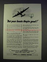 1942 WWII Buick Ad - Bet Your Boots They're Good!