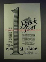 1926 Buick Car Ad - Buick First