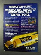 1985 Monroe Gas-Matic Shock Ad - Should've Been On Car
