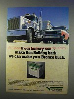 1983 Interstate Batteries Ad - Mack Truck, Ford Bronco
