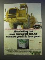 1983 Interstate Batteries Ad - Cat Purr, Lynx Growl