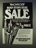 1983 Monroe Shocks & Struts Ad - Bump Stops Here