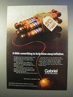 1981 Gabriel Red Ryder Shock Ad - Blow Away Inflation