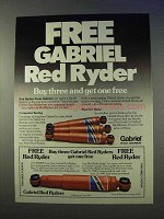 1980 Gabriel Red Ryder Shock Absorber Ad