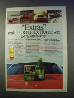 1979 Turtle Wax Turtle Extra Car Wax Ad - Long Lating
