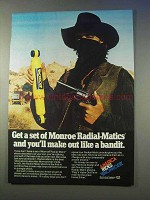 1979 Monroe Radial-Matics Shocks Ad - Like a Bandit