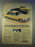 1979 Gabriel Striders Shocks Ad - Most Give One Ride