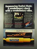 1977 Monroe Radial-Matic Shocks Ad - Revolutionary