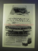 1976 Simoniz Wax Ad - When you Can't See It Shine