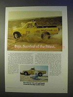 1974 Simoniz Pre-Soft, Liquid Wax Ad - Baja Survival