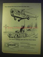 1958 Solex Carburettor Ad - Cannot Be Sure of Service