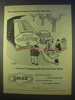 1958 Solex Carburettor Ad - Sure of Service Like This