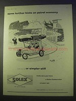 1957 Solex Carburettor Ad - Hints on Petrol Economy