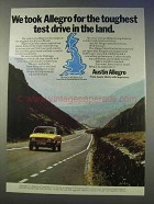 1978 Austin Allegro Car Ad - Toughest Test Drive