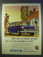 1955 Austin A90 Six Westminster Car Ad - Proud