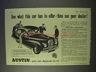 1954 Austin A70 Hereford Car Ad - Has To Offer