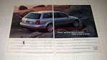 1998 Audi Avant Car Ad - Sports Sedan with Fanny Pack