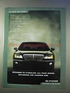 2001 Hyundai XG300 Car Ad - Stimulate All Senses