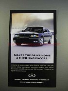 1999 Infiniti Q45t Car Ad - A Thrilling Encore