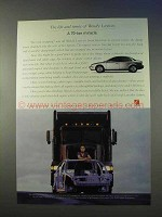 1999 Saturn Car Ad - A 70-Ton Miracle
