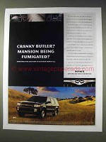 1998 Infiniti QX4 Ad - Mansion Being Fumigated?