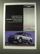 1998 Infiniti QX4 Ad - Most Advanced 4WD Systems