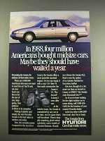 1989 Hyundai Sonata Car Ad - Should Have Waited a Year